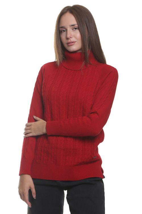 Μπλούζα  ζιβάγκο με κοτσίδες - Κόκκινο 95110M