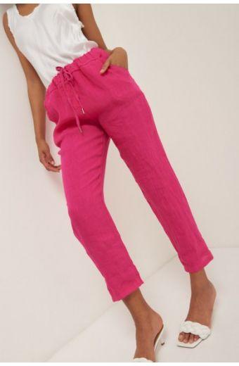 Παντελόνι λινό- Φουξ 14226