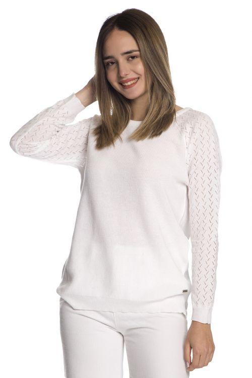 Μπλούζα  με οργανικό βαμβάκι-Λευκό1260