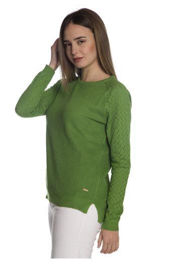 Βαμβακερή μπλούζα - Πράσινο 1272
