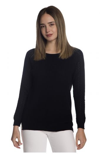 Μπλούζα  με οργανικό βαμβάκι- Μαύρο1277