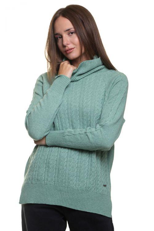 Μπλούζα ζιβάγκο με κοτσίδες - Βεραμάν 9511M