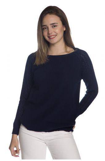Μπλούζα  με οργανικό βαμβάκι- Μπλε 1288