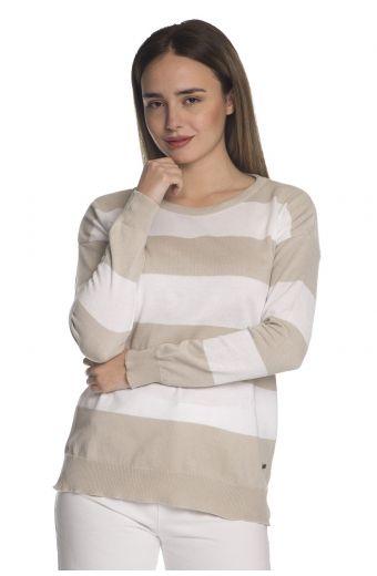 Μπλούζα  με οργανικό βαμβάκι- Μπεζ 1296