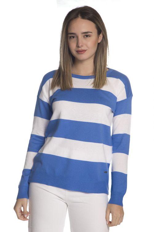 Μπλούζα  με οργανικό βαμβάκι- Σιέλ 1303