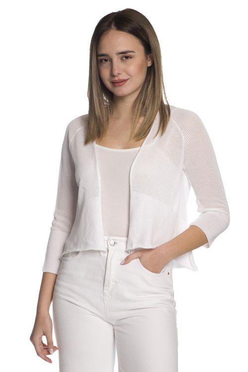Ζακετάκι μπολερό -100% οργανικό βαμβάκι-1450 Λευκό