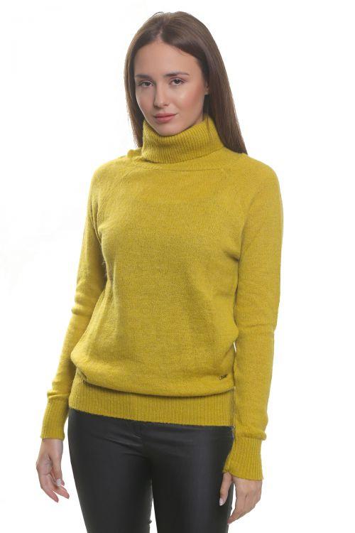 Μπλούζα μοχέρ με όρθιο λαιμό- Κίτρινο 3561