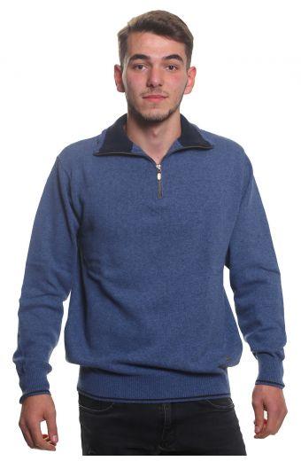 Μπλούζα αντρική  με γιακά και φερμουάρ - Ραφ 3767A