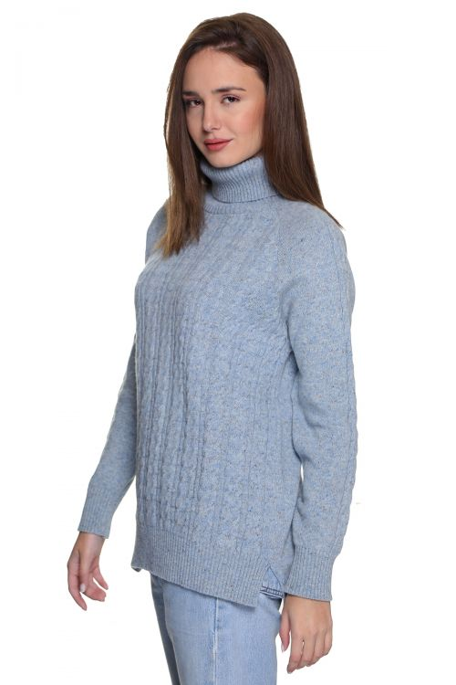 Μπλούζα  ζιβάγκο με κοτσίδες - Σιελ  9612M