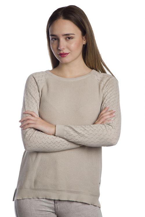 Μπλούζα  με οργανικό βαμβάκι-Μπεζ1360