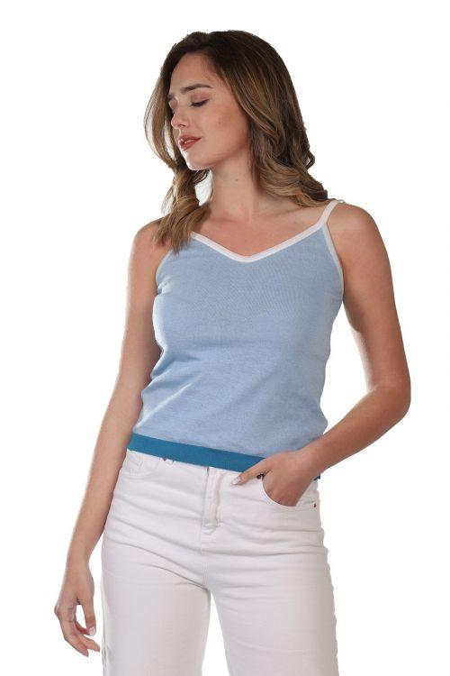 Μπλουζάκι  τιράντα - Γαλάζιο 52111