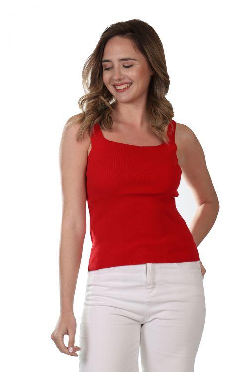 Μπλουζάκι  τιράντα - Κόκκινο 52101