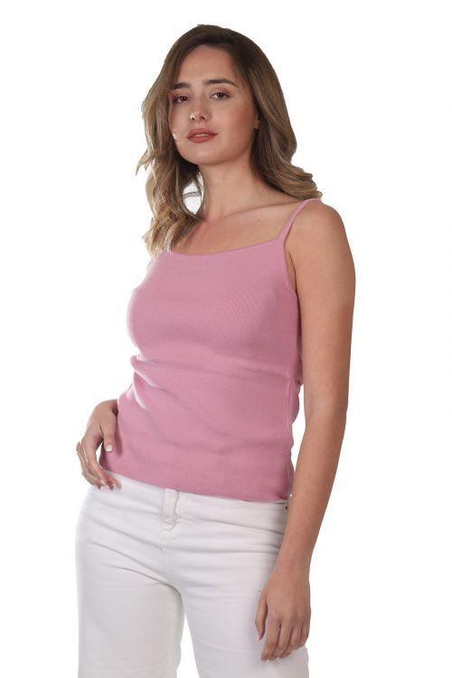 Μπλουζάκι τιράντα - Ροζ 52721