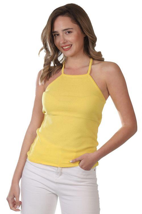 Μπλουζάκι τιράντα   -  Κίτρινο 52421