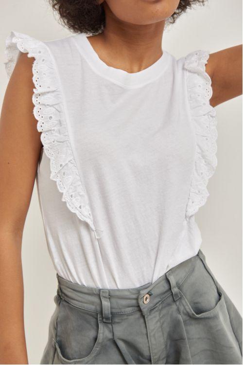 Μπλούζα με βολάν -Λευκό 52331