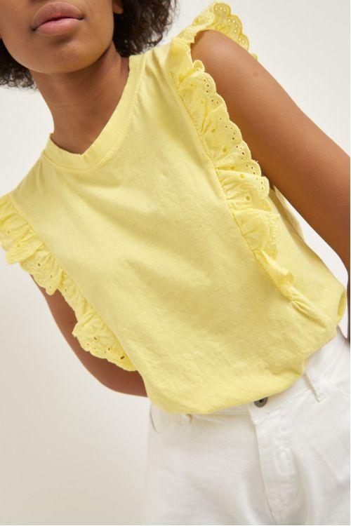 Μπλούζα με βολάν -Κίτρινο 52328