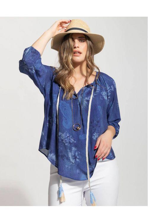 Μπλούζα - πουκάμισο - μπλε 802019M