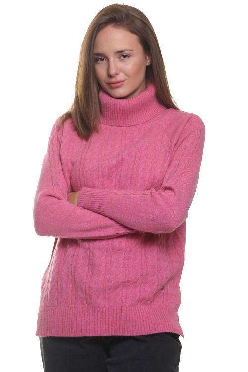 Μπλούζα  ζιβάγκο με κοτσίδες - Ροζ  9515M