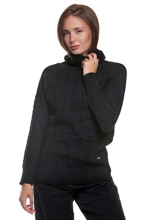 Μπλούζα  ζιβάγκο με κοτσίδες - Μαύρο  9516M