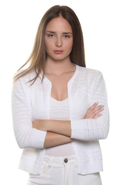 Ζακετάκι κοντό μπολερό-1677 λευκό
