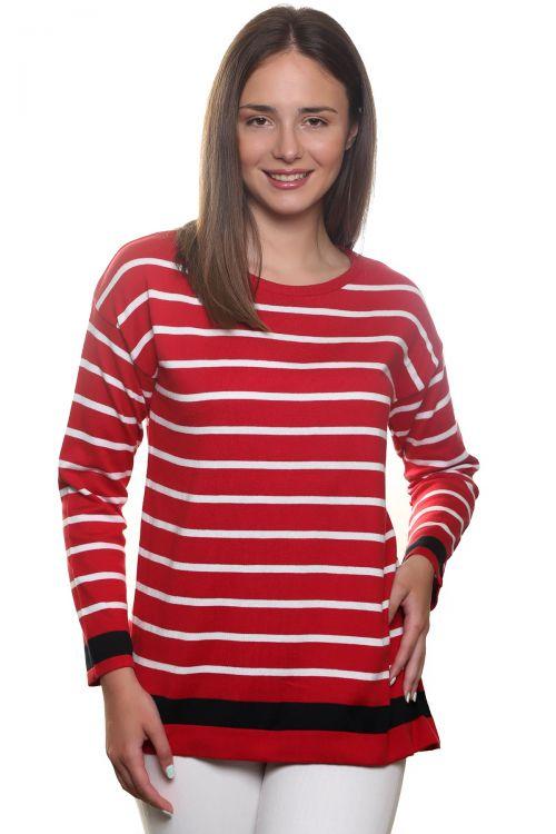 Ριγέ μπλούζα - Κόκκινο 2225R