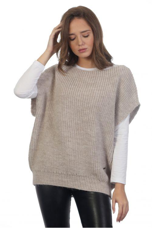 Αμάνικη μπλούζα -3756A Μπεζ