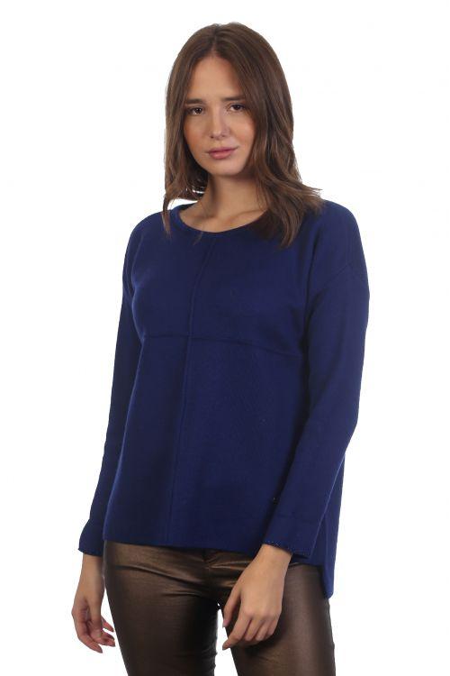 Μπλούζα με μεταλιζέ λεπτομέρειες- Μπλε 3928
