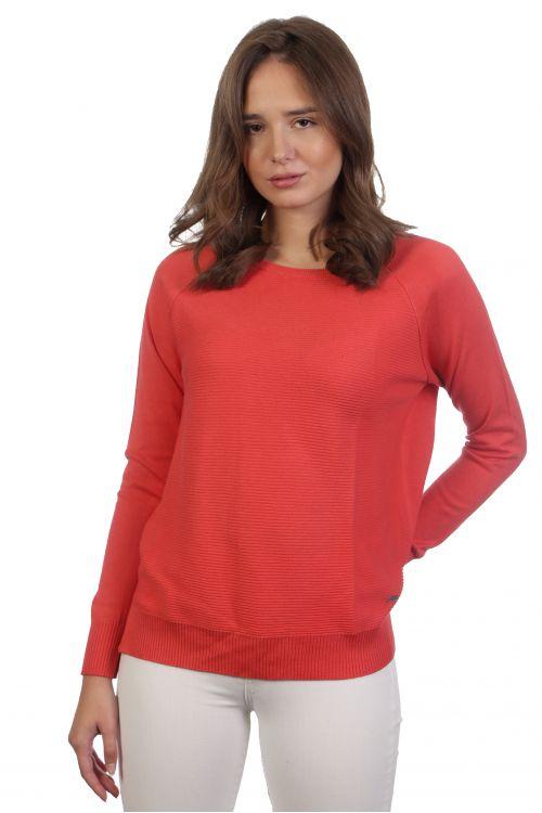 Βαμβακερή μπλούζα - Κοραλλί 3957