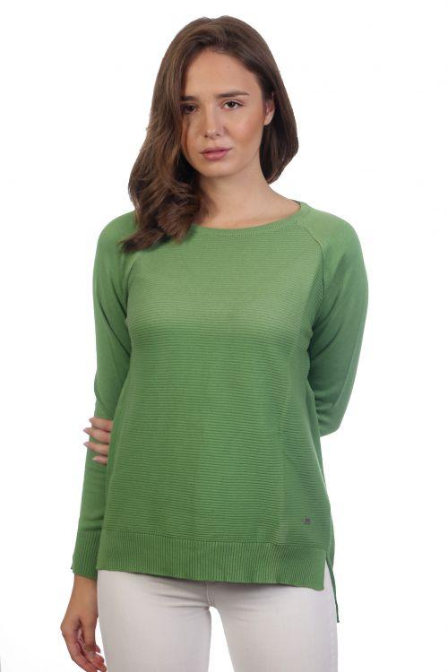 Βαμβακερή μπλούζα - Πράσινο 3973