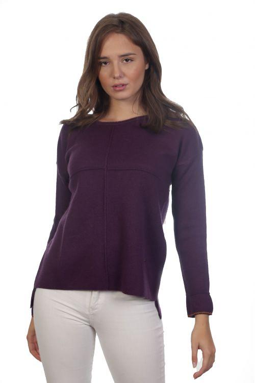 Μπλούζα με μεταλιζέ λεπτομέρειες- Μελιτζανί 4016