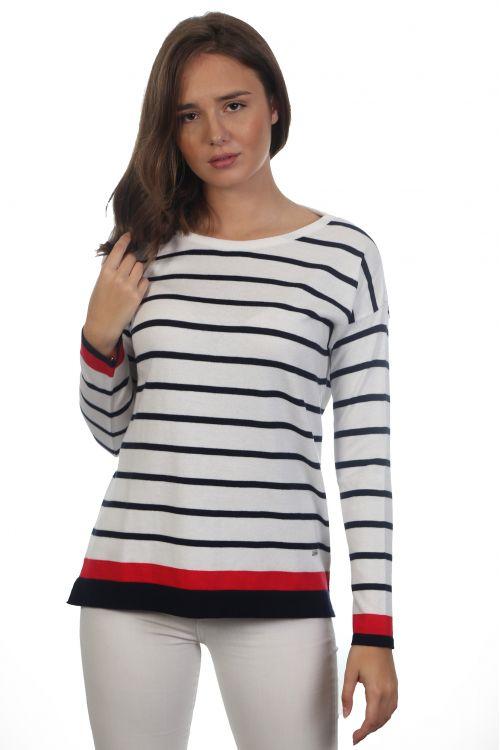 Ριγέ μπλούζα - Λευκό 2225R