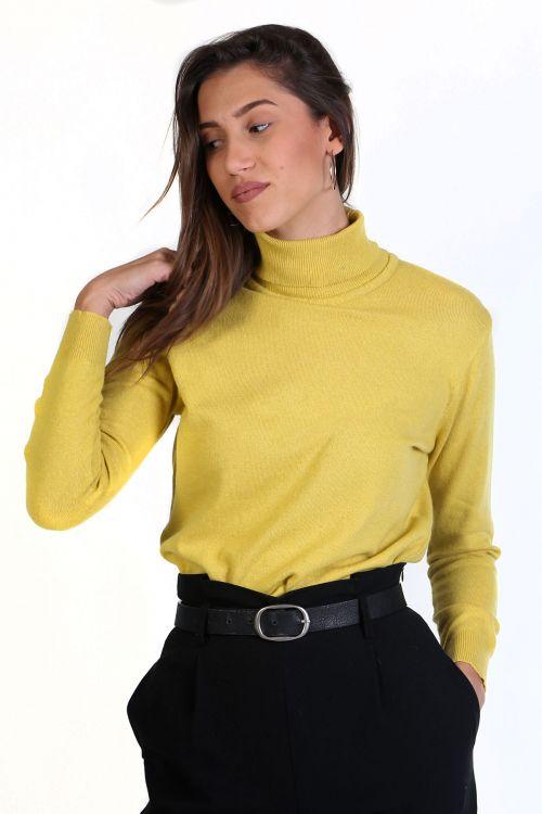 Μπλούζα με ζιβάγκο- Κίτρινο 8645M