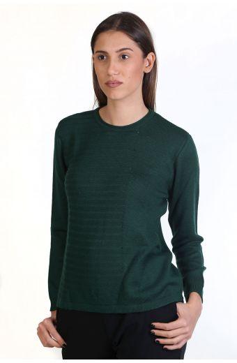 Μπλούζα με λαιμόκοψη, κλασική εφαρμογή- -κυπαρισσί 8725M