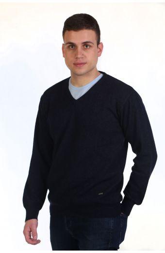Μπλούζα αντρική με VE - μπλε σκούρο 8955A