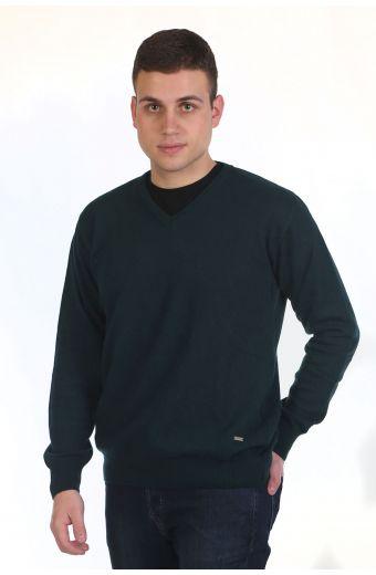 Μπλούζα αντρική με VE - κυπαρισσί 8982A