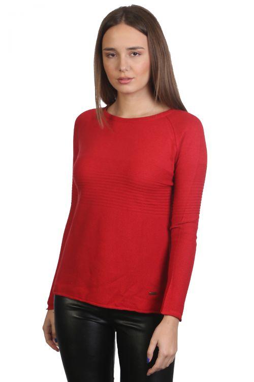Μπλούζα λαιμόκοψη - Κόκκινο 9155