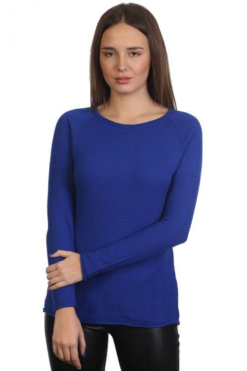 Μπλούζα λαιμόκοψη - Μπλε ρουά 9162