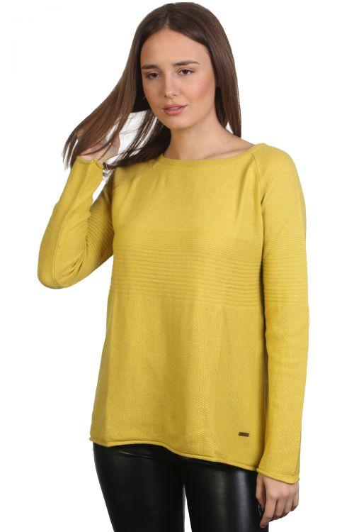 Μπλούζα λαιμόκοψη - Κίτρινο 9169