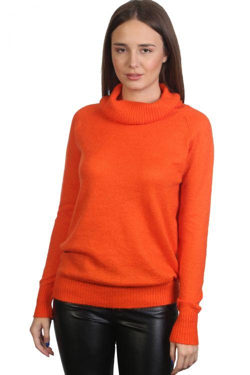 Μπλούζα μοχέρ με όρθιο λαιμό- πορτοκαλί 9200