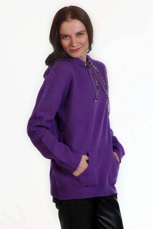 Μπλούζα με κουκούλα - Μωβ 9573M