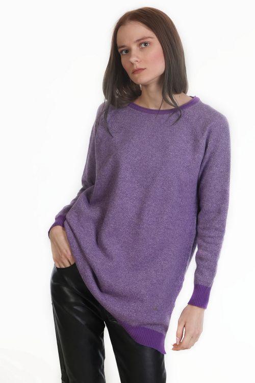Μπλούζα με μαλλί - Μωβ 9596M